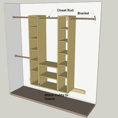 HOME DZINE Home DIY | Simple, practical DIY storage closet