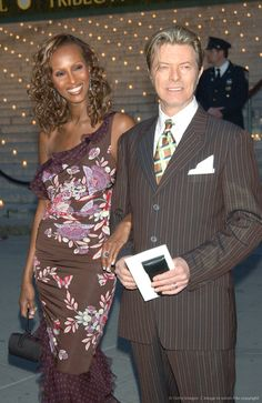 David Bowie and his wife Iman.