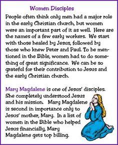 Women Disciples (Story) - Kids Korner - BibleWise