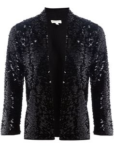 Lily Sequin Jacket | Black | Monsoon