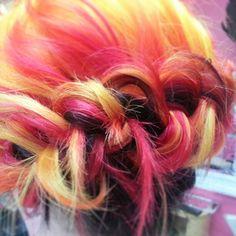 """""""Girl on fire"""" hair color by Nina Douck"""
