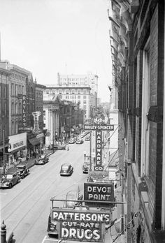 vintage photo of Main Street - from 1943