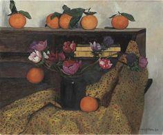Giclee Print: Anemones and Oranges Art Print by Felix Vallotton by Félix Vallotton : Kitsch, Critique D'art, Orange, Le Diner, Lausanne, Global Art, Botanical Art, Art Market, Framed Artwork