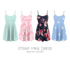 Clothing: Strap mini dress from Kenzar Sims The Sims 4 Pc, Sims 4 Teen, Sims Four, Sims 4 Cas, Sims Cc, Sims 4 Toddler Clothes, Sims 4 Mods Clothes, Sims 4 Cc Kids Clothing, Pelo Sims