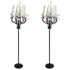 """Pair of """"Magic Forest"""" Torcheres by Tony Duquette 