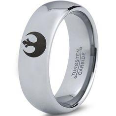 Star Wars Force Awakens First Order Ring Symbol Tungsten Carbide Ring 4mm 6mm 8mm 10mm 12mm