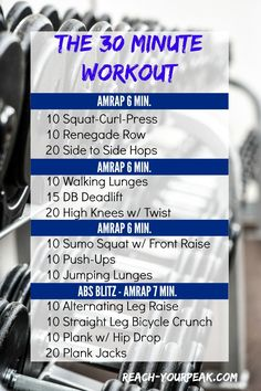AMRAP: 30 Minute Total Body Workout