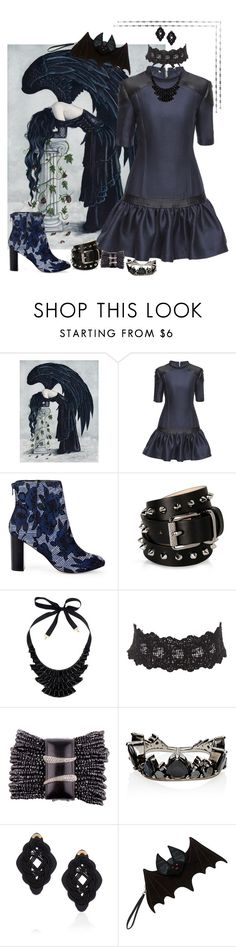 """Dark Angel"" by yvonnewarren ❤ liked on Polyvore featuring Lattori, Sole Society, Barbara Bui, John Lewis, Charlotte Russe, Fernando Jorge and Anna e Alex"