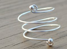 Wire Wrapped Ring Simple Silver Wrap Around by LorisWireJewelry, $12.00