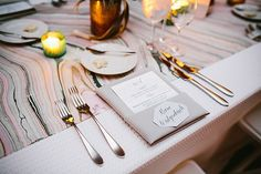 Geometric place cards | Photo by Pen/Carlson
