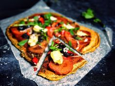 Lentil pizza crusts | gluten free, vegan. Ingredients: red lentils, garlic, salt, oregano leaves