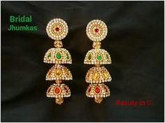 How to make Bridal Jhumkas at Home   Silk Thread Earrrings   Tutorial - YouTube