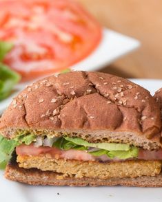Carrot & Chickpea Veggie Burger Recipe by Tasty Burger Toppings, Burger Recipes, Veggie Recipes, Vegetarian Recipes, Cooking Recipes, Healthy Recipes, Burger Food, Chickpea Veggie Burger Recipe, Veggie Burgers