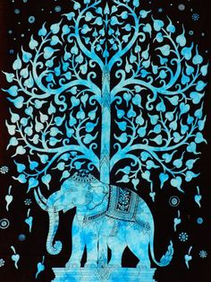 Indian Elephant Tapestry Bohemian Hippie Mandala Wall Hanging Art Set Home Decor Tapestry Curtains, Dorm Tapestry, Indian Tapestry, Mandala Tapestry, Tapestries, Bedspread, Tree Of Life Artwork, Tree Of Life Tapestry, Hanging Art