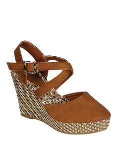 Camel Echo Closed-Toe Wedge Sandal