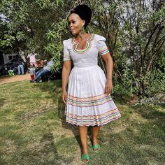 Short African Dresses, Latest African Fashion Dresses, African Print Dresses, African Print Fashion, Africa Fashion, African Prints, Pedi Traditional Attire, Sepedi Traditional Dresses, South African Traditional Dresses