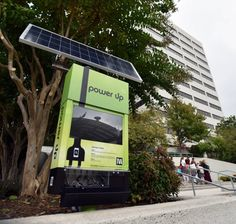 Solar power cell charging station