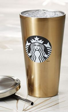 Golden Starbucks cup http://rstyle.me/ad/ukfsan2bn