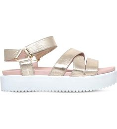 KG KURT GEIGER - Miami leather flatform sandals | Selfridges.com