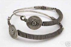 Amazing-tribal-silver-huge-hoop-earrings-to-collect-Gujarat-North-India-1920s