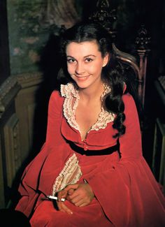 "Vivian Leigh during production of Victor Fleming's ""Gone with the Wind"" [1939]"