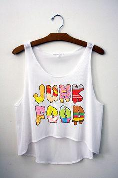 Junk Food Crop Top – Hipster Tops