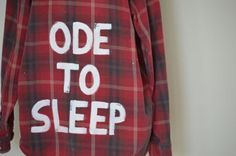 "Vintage twenty one pilots ""Ode To Sleep"" Flannel"