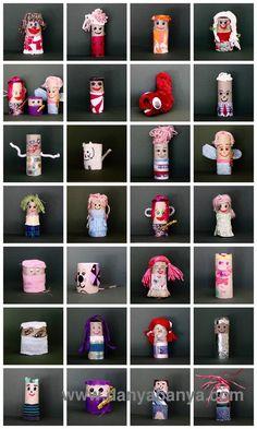 Toilet Paper Roll Dolls ~ Danya Banya