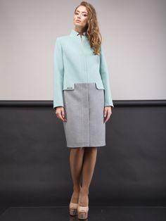 Пальто двухцветное - CORSICA - 2701942