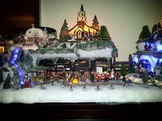 Een gedeelte van mijn kerst dorp.