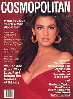 Cosmopolitan US, September 1988 Photographer : Francesco Scavullo Model : Cindy Crawford