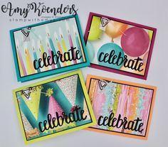 CAS Picture Perfect Party Cards by amyk3868 - at Splitcoaststampers