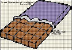 Grille gratuite point de croix : Tablette de chocolat - Le blog de Isabelle