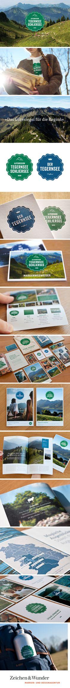 ALPENREGION TEGERNSEE SCHLIERSEE / Markenauftritt und Kommunikationskonzept / #Natur #Konzept #Packaging #Branding #Corporate #Design / by Zeichen & Wunder, München