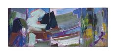 Artwork by Ivon Hitchens, A Boat and Foliage in Five Chords, Second Study, Made of oil on canvas