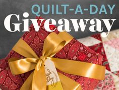 It's Day 2 of our Quilt-A-Day Giveaway, and another gorgeous design is up for grabs. Have you entered to win yet?