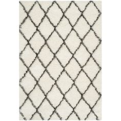 Found it at Wayfair - Sewell Moroccan Shag Ivory/Gray Geometric Contemporary Area Rug