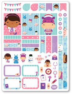 Doctor Girl Decorating Kit / Weekly Spread Planner by PlannerPenny