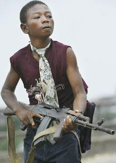 Child soldier West Africa.