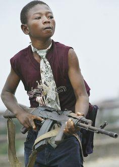 Child soldier West Africa.