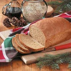 "Norwegian Oatmeal Molasses Bread Recipe -""This Norwegian bread was popular in Spring Grove, Minnesota, where I grew up,"" relates Lyla Franklin of Phoenix, Arizona. ""My mother used to make eight loaves at a in a wood-burning stove. It's delicious toasted."""