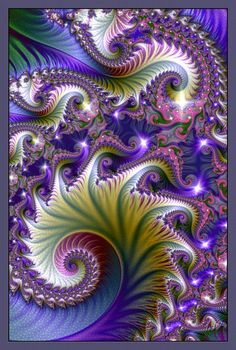 ★~ Purple Passion ~★                                                       #art. #zentangle. #fractile