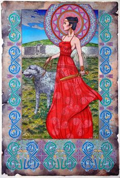 Boann by Jim Fitzpatrick Boann the Irish mythology goddess of the River Boyne, a river in Leinster, Ireland. She was the daughter of Delbáeth, son of Elada, of the Tuatha Dé Danann. Her lover was the Dagda, by whom she had her son, Aengus. In order to hide their affair, the Dagda made the sun stand still for nine months; therefore, Aengus was conceived, gestated and born in one day.
