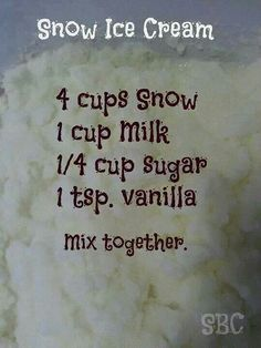Snow Ice Cream recipe
