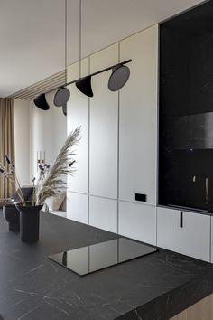 Lama Beige Apartment by Sobo Studio Apartment Interior, Kitchen Interior, Minimalist Interior, Modern Interior, Contemporary Bedroom Furniture, Composition Design, Branding, Blue Tiles, Home Comforts