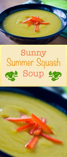 Gold potatoes combine with yellow squash to make this creamy, vegan, delicately seasoned summer squash soup both filling and low in fat and calories.