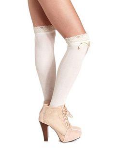 Chevron Over-the-Knee Sock: Charlotte Russe