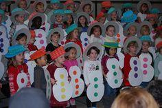 preschool christmas activities snowman dressup | Snowman Review - Gwens preschool christmas program 4_12-15-11