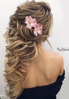 40 Stuning Long Curly Wedding Hairstyles from Nadi Gerber | Deer Pearl Flowers - Part 3