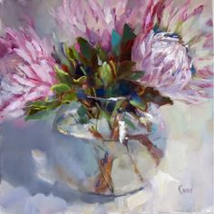 Even more proteas! Protea Art, Bouquet, Abstract Flowers, Painting Flowers, Art For Art Sake, Acrylic Art, Beautiful Paintings, Painting Inspiration, Flower Art